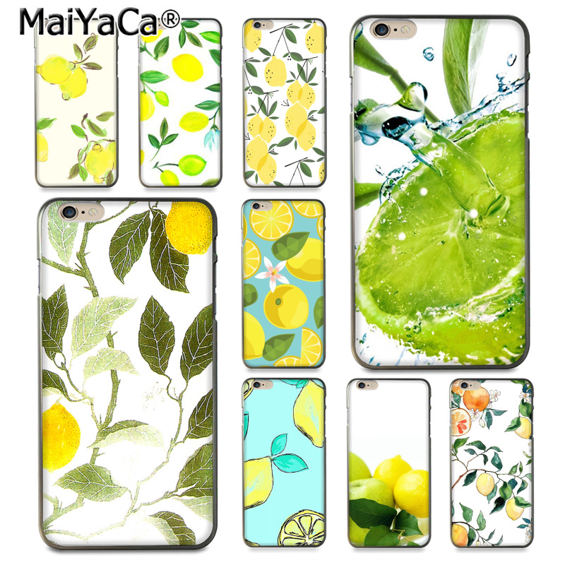 MaiYaCa Fruit Fresh Lemon Colorful Cute Phone Accessories Case for iPho