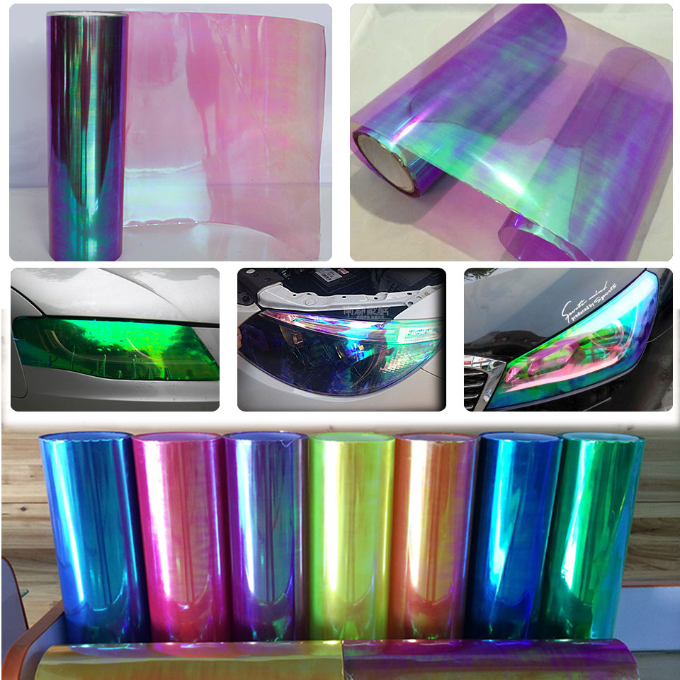 Chameleon Neo Chrome Pearl Headlight Taillight Tint Protection Car Head light Fog Lamp Vinyl Film Wrap-in Car Stickers from Automobiles & Motorcycles