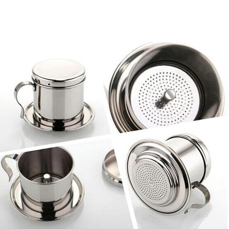 Капельная Кофеварка из нержавеющей стали, ручная мокко плита, кофейник, вьетнамский капельный кофейник, машина, тип фильтра, заварочный чай...