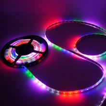 Waterproof Colorful Flash Led Strip for New Year Christmas Decoration Covered by Epoxy RGB Gerlyanda DC12V 24W Super Brightness