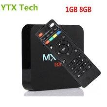 Full HD Media Player 2.4G Wifi H.265 4 K Soutien 1 GB DDR3 8 GB mem Quad Core Intelligent Android 5.1 Rockchip RK3229 TV Box MX Pro