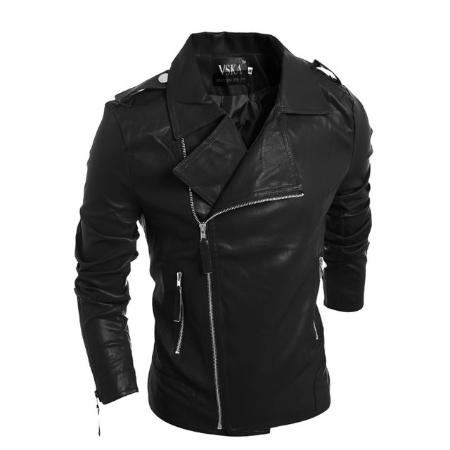 High Quality Leather Jacket Fashion 2016 New Personality More Zipper Men's Lapel Brief Paragraph Motorcycle pp Leather Jacket