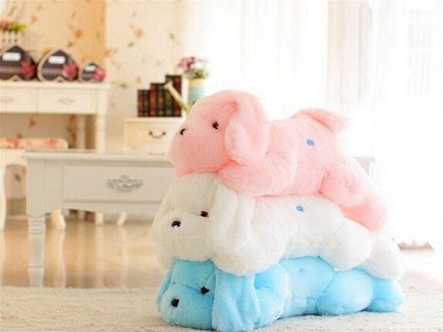 45 СМ Симпатичные Индуктивный Собака ночник Плюшевые Игрушки LED Свечение Подушку Кукла