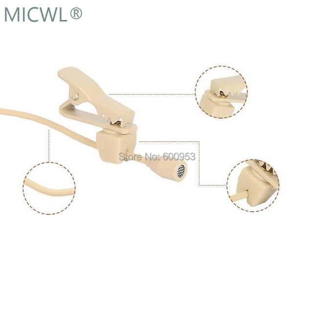 Hohe Qualität Omnidirektionale Beige Krawatte Clip Revers Lavalier Mikrofon Mic für Audio Technica Sennheise Shure MiPro Kostenloser Versand