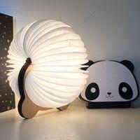 2018 New Arrival 8 Color Book Light USB Charging Colourful Cute Panda Book Light Night Lamp