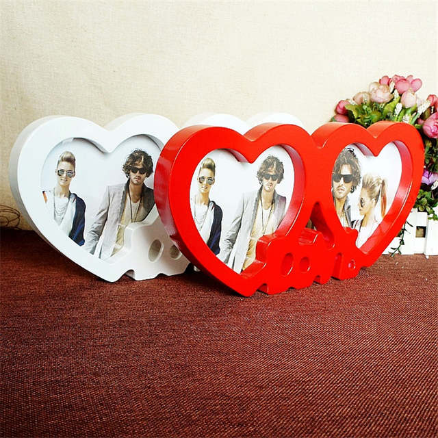 Online Shop Heart Shape Photoes Frame Love Couple Picture Frame
