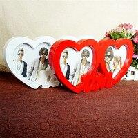 Photoes צורת לב זוג אהבת מסגרת תמונה מסגרת מסגרת תמונת חתונה, מסגרת משק בית דקור קישוט שולחן העבודה