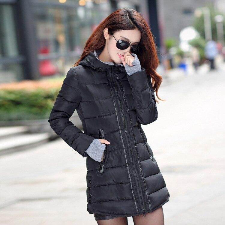 Winter Parka Women Coats 2016 new Winter Women Jacket Coat Long Slim Thickening Warm Down Cotton-padded Jacket Female Outerwear