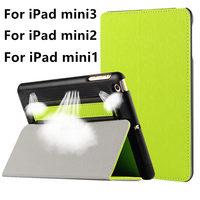 Case For Apple IPad Mini 3 2 1 Stand Smart Cover For IPad Mini1mini2 Mini3 Leather