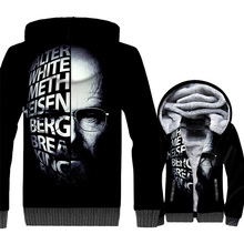 Breaking Bad Funny Zipper Hoodies Men 2018 Fashion Winter Thick Mens Jackets Streetwear Movie Coat Male TV Series Tracksuit Top