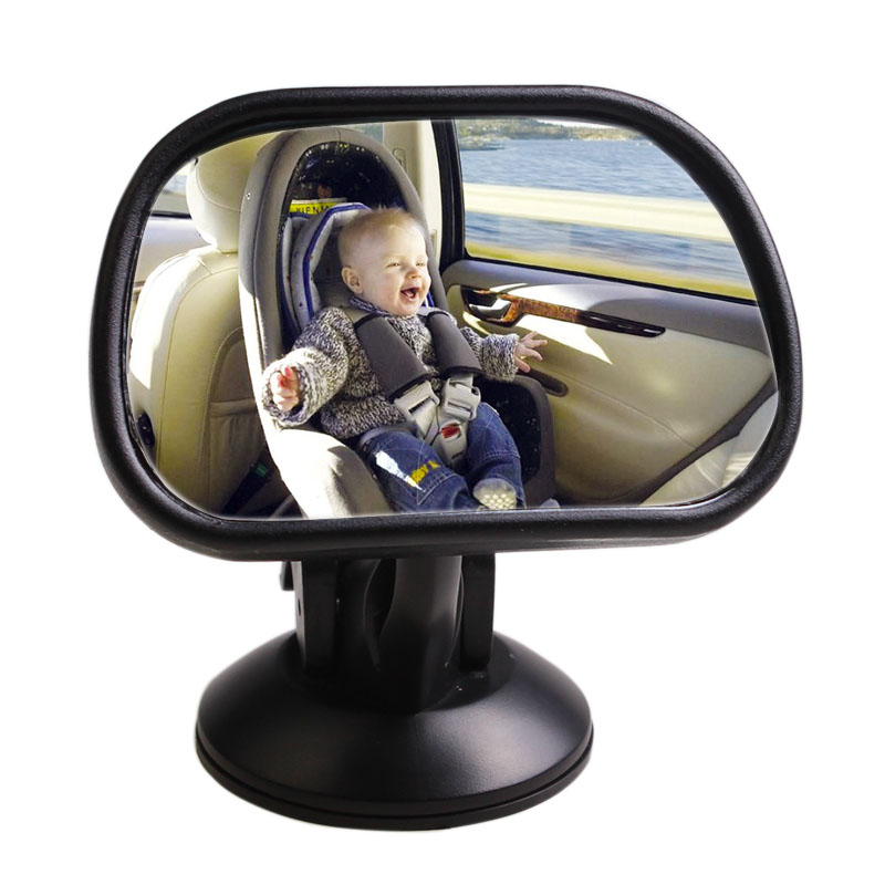 SHEATE Car baby mirror Curved glass Auto Child Monitor with sucker Rearview Safety Rear seat Interior Mirrors Kids Care