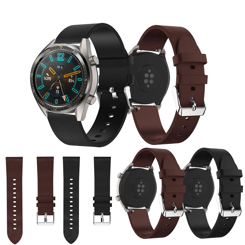 <font><b>Leather</b></font> Wrist Strap for Huawei <font><b>Watch</b></font> GT <font><b>Watch</b></font> <font><b>Bands</b></font> <font><b>22</b></font> <font><b>mm</b></font> For Honor <font><b>watch</b></font> Magic Replacement Bracelet <font><b>Band</b></font> Smart <font><b>Watch</b></font> Accessory image