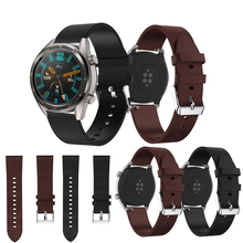 Leather Wrist Strap for Huawei Watch GT Bands 22 mm For Honor watch Magic Replacement Bracelet Band Smart Accessory