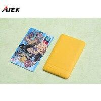 30 Adet/grup Ultra İnce AIEK/AEKU X6 Mini Cep Kart Telefon Öğrenci Rus Klavye ile Unlocked Mini Cep Telefonu Cebi PK M6 E1