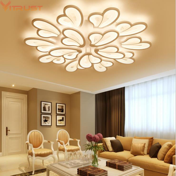 Modern Led Ceiling Lights Dimming Acrylic Ceiling Lamps For Living Study Room Chandeliers Surface Mounted Lighting Fixturelamp