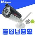 Wifi 960 p hd 6mm lente ip p2p cámara de seguridad sd micro ranura para tarjeta de grabación de vídeo motion detección de alarma de alerta de correo electrónico al aire libre ip66