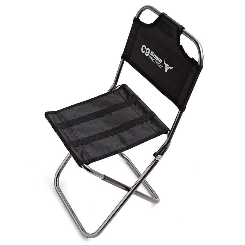 Mini Mountain Climbing Chair Aviation Aluminum Outdoor Folding Beach Fishing Hiking Picnic BBQ Chair Outside Tourist Furniture
