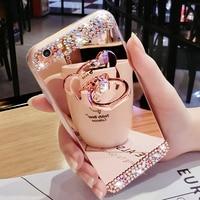 Funda de cristal para teléfono iPhone, carcasa de lujo con diamantes de imitación para iPhone 12, 11 Pro Max, 7, 8, 6 Plus, XS, XR, Xs Max
