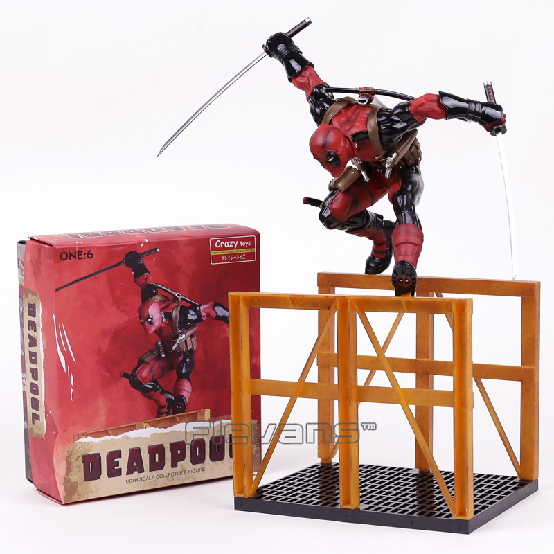 Crazy Toys Deadpool 2 Hurdling Ver. 1/6th Scale Statue PVC Figure Collectible Model Toy 40cm collectible 1 6th ismael