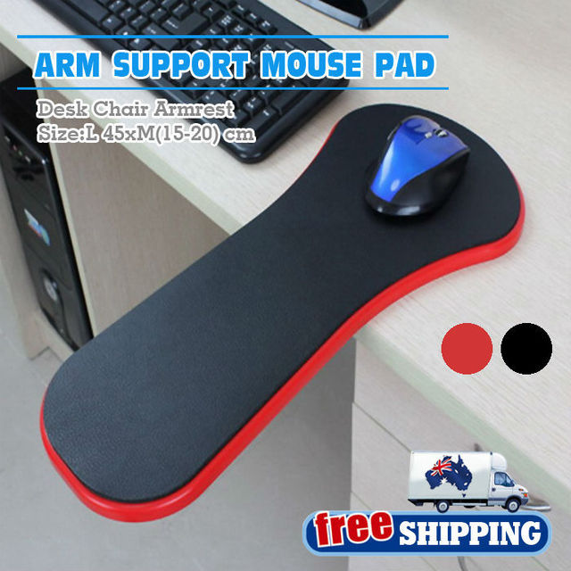 Australia Domestic Delivery Free Shipping Rest Computer Arm Support Chair Desk Armrest Ergonomic Mouse Pad