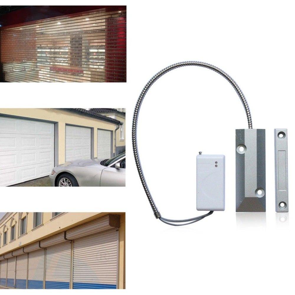 Wireless Rolling Door Sensor Garage Gates Magnetic Detector Roller Shutter Magnetic Contact Sensor for WIFI Alarm key selector ks06 for rolling shutter key switch for garage door