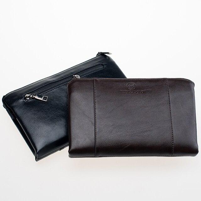 Portefeuilles de luxe PU cuir homme sac à main affaires Cluth hommes Long portefeuille entreprise Designer marque hommes pratique sac Carteira Masculina
