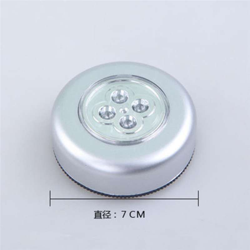Party Favors 4 LED Touch Night Light Home Kitchen Under Cabinet Closet Push Stick On Lamp