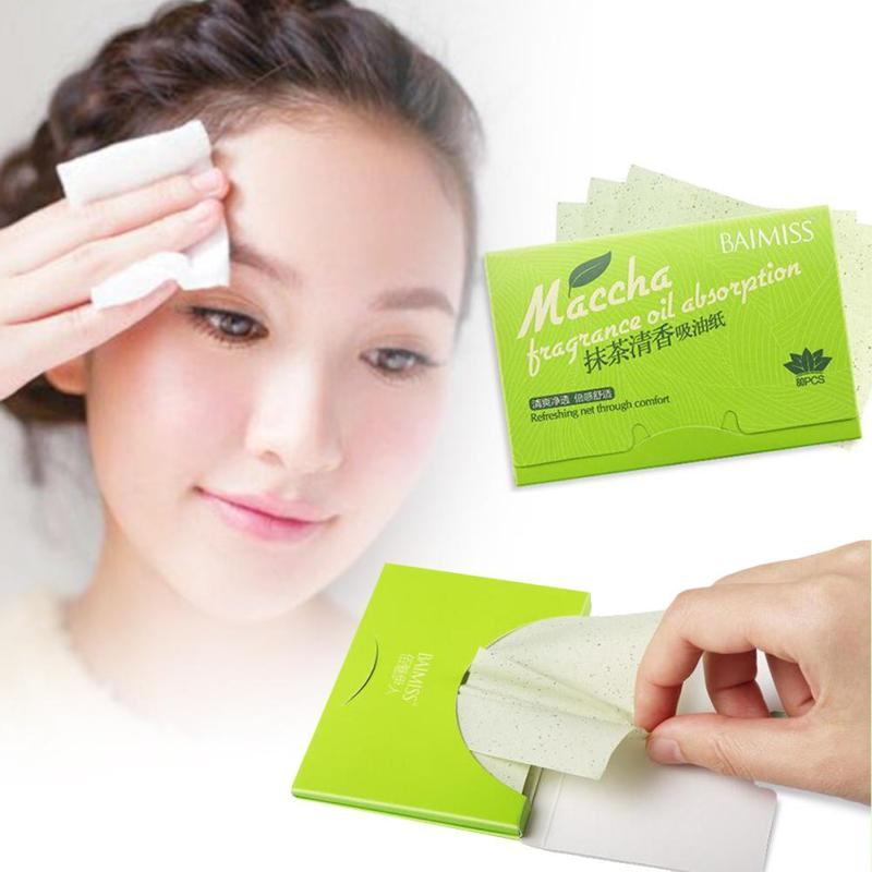 80 pcs/Pack Facial Tissue Face Oil Absorbing Paper Face Maquiagem Powerful Makeup Cleaning Sanitary Paper Y4