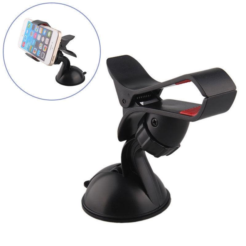 Universal Rotating Car Windshield Mount Holder Bracket Cradle Stand Soporte Movil Car Porta Celular for iPhone 6 6S 7 8 Plus X suporte de celular para parabrisa