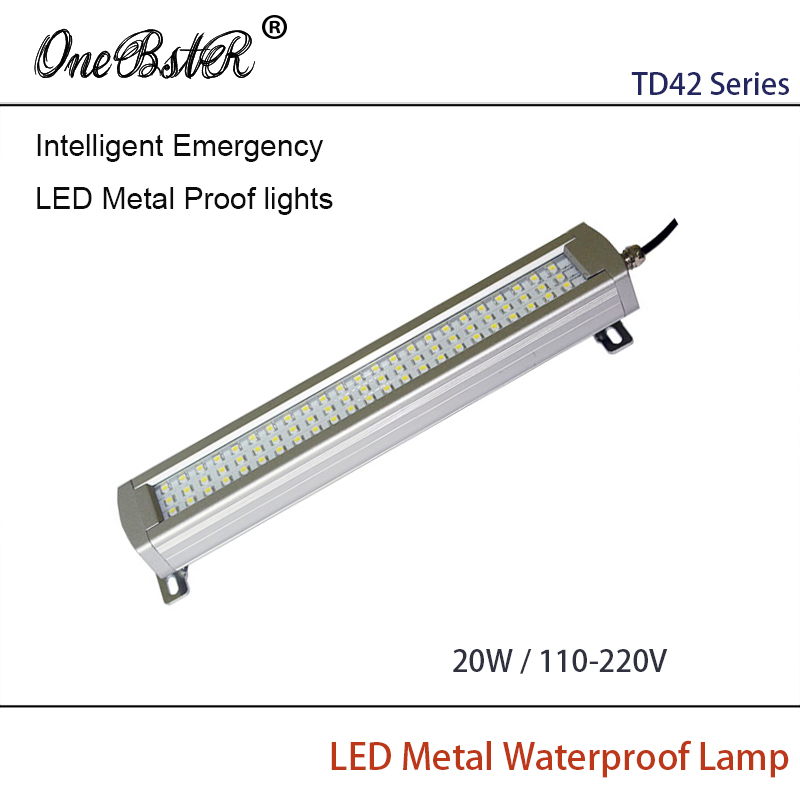 HNTD 20W AC 110V/220V Intelligent Emergency LED Metal Proof lights Waterproof IP67 Built-in Lithium Battery Free shipping