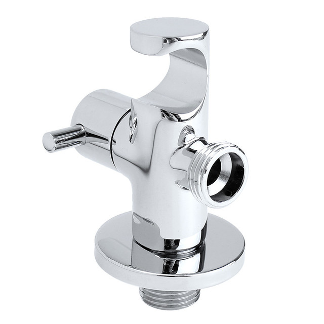 Three Way Tee Connector Brass Bathroom Shower Toilet Bidet Angle Valve For  Water Faucet Tap Shower
