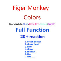6 kleuren Leuke Smart Kleurrijke Vinger Baby Aap Dier Interactieve Aap Baby Speelgoed Elektronische Vinger Huisdieren vinger aap