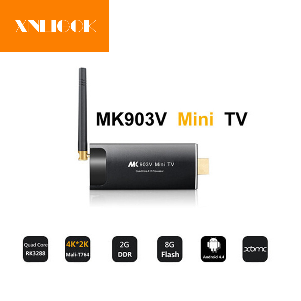 MK903V RK3288 Quad Core Android 5.1 Mini PC TV Box Dongle bâton 2G 8G Smart TV Récepteur Media Player 2.4G/5G WIFI BT 4.0
