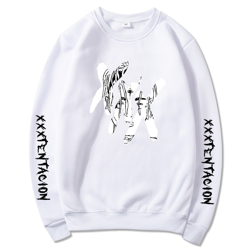 100% Quality Xxxtentacion Hoodies Sweatshirt Men Women Suprem Casual Pullover Streetwear Sudadera Hombre Hip Hop Funny Print Hoodies 7 Colour Sale Overall Discount 50-70%