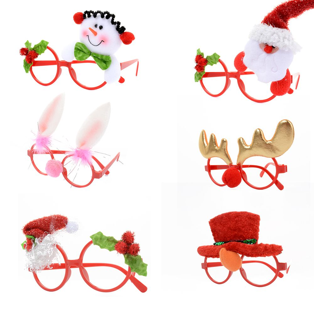 Funny Christmas Ornaments Glasses Frames Evening Party Toy Kids Xmas Gifts Decor