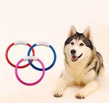 USB Charging Adjustable Pet Dog Collar Waterproof LED Rechargeable Night Flashing Luminous Dog Collars Teddy Flash Collar Pet