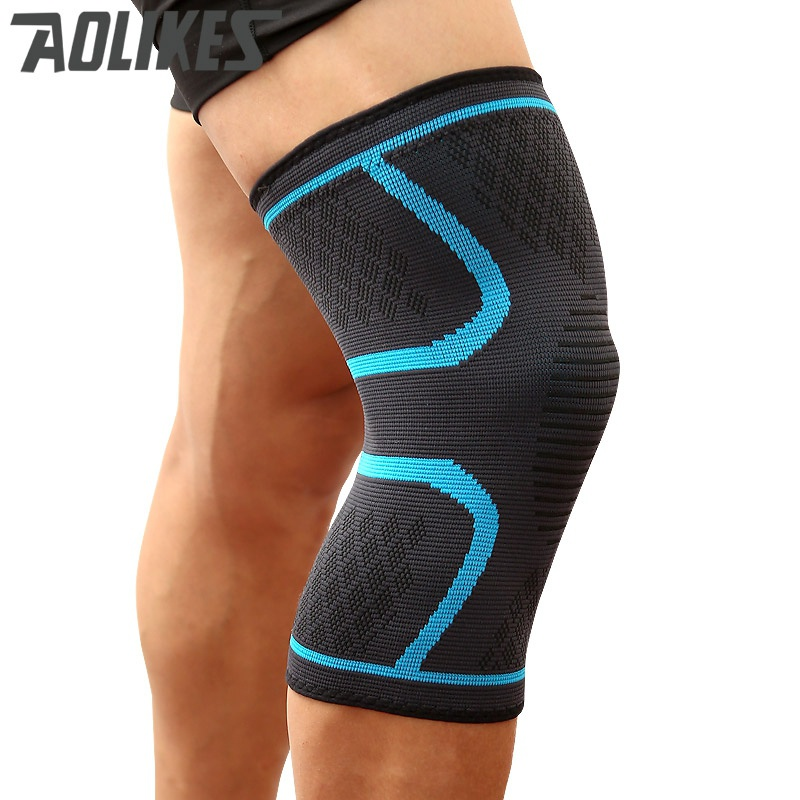 2 pcs Knee Support Elastic Anti Slip Breathable Moisture Wicking Brace Pad Sports Gym Sleeve Protector Sportswear 2018 New