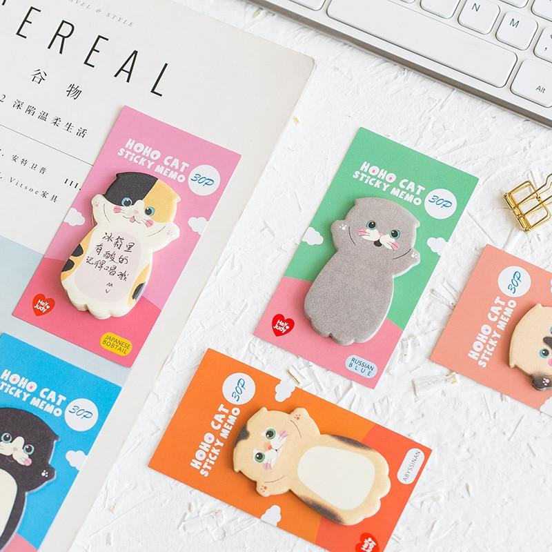 Cute Kawaii Cat Sticky Memo Pads (8 pieces) 1
