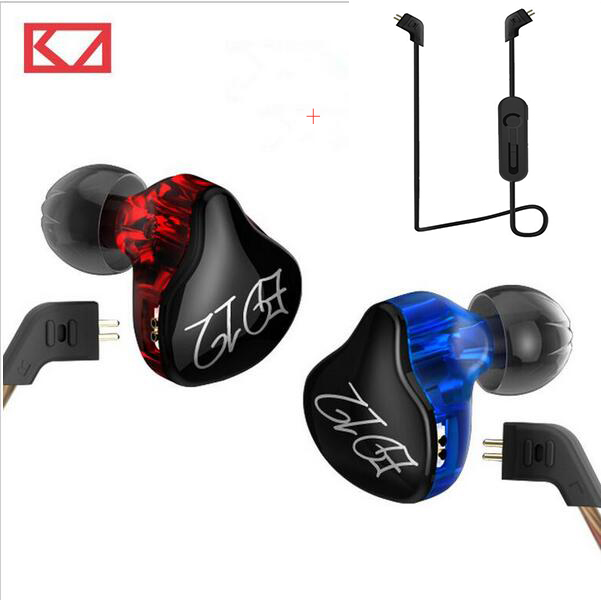 Беспроводной Улучшенный модуль KZ ED12 Bluetooth 4,1, звуковые мониторы, шумоизоляция, HiFi музыка, спортивные наушники-вкладыши
