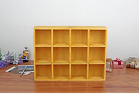 1PC 3 color Zakka grocery 12 lattice storage cabinets old solid wood storage box living room display cabinets Jl 0963