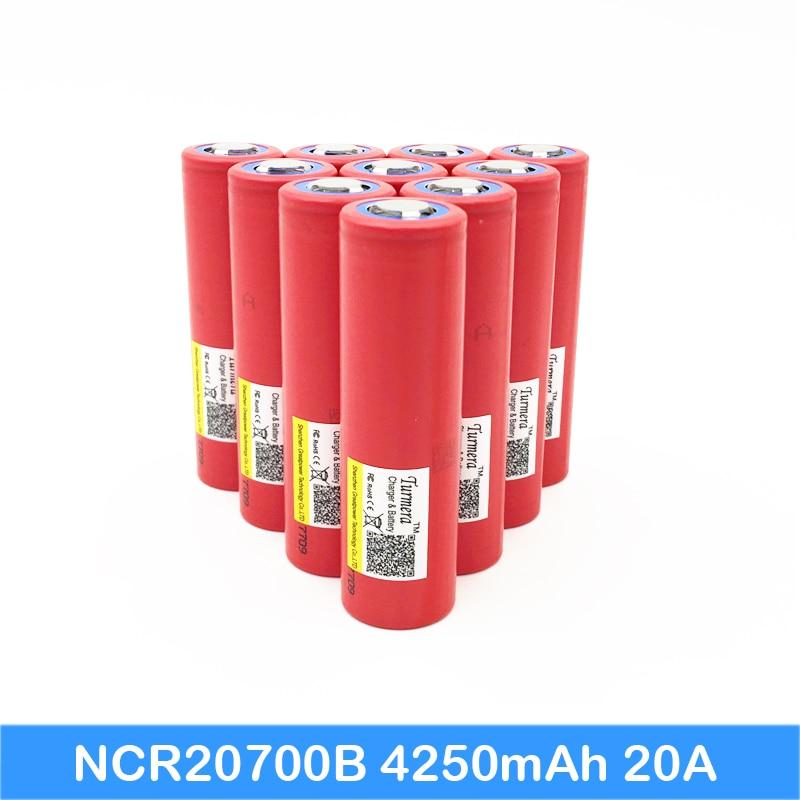 20700 Battery Turmera For SANYO 20700B 4250mAh 20A Li-ion Battery For 20700 E Cigarette Vape Lithium Bike Battery Jun14