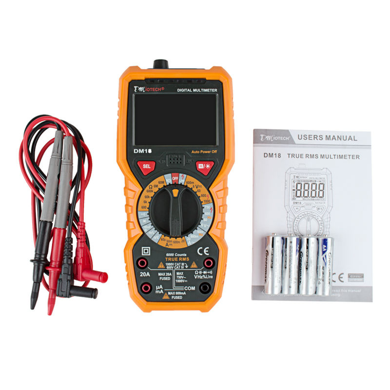 LCD Digital Multimeter Ture RMS Voltage Current Test Tools NCV Tester Resistance Capacitance Diode Meter  usb interface multimeter tester test true rms ac dc current voltage resistance capacitance diode temperature duty cycle meter