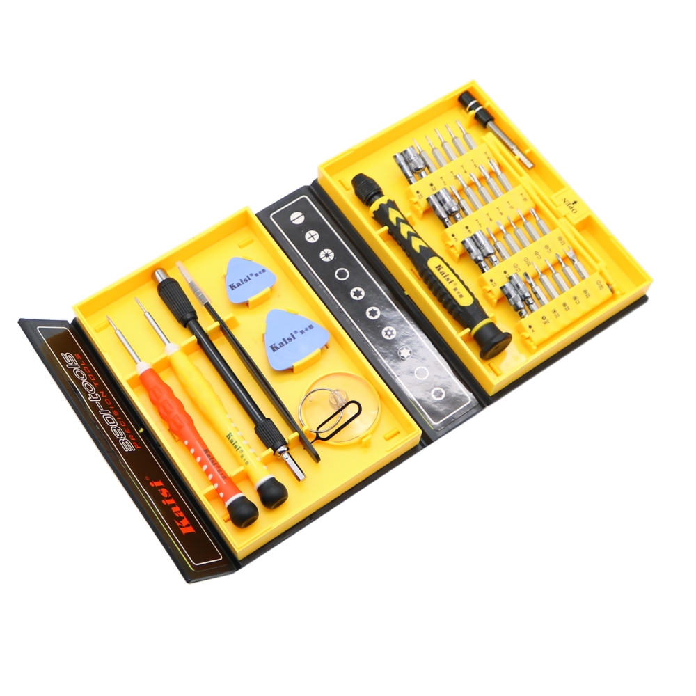 Kaisi 38 in 1 Screwdriver Set multipurpose phone Opening Repair Tool for PC, laptop, mobile phone Tools Sets Free shipping hot sale screwdriver set repair tools mobile phone repairing opening tool for iphone laptop tablet smartphone free shipping