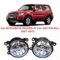 Для MITSUBISHI PAJERO 4/IV Ван V80 V90 Коробка 2007-2015 10 Вт Противотуманные фары СИД DRL Дневного Времени ходовые Огни Стайлинга Автомобилей