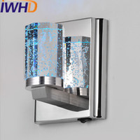 IWHD Bathroom Mirror Led Wall Light Crystal Wall Lamp Waterproof Stainless Steel Arandela Home Lighting Fixtures Hanglampen