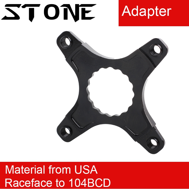 Stone Chainring for Raceface to 104 BCD Adapter Spider Converter Single Speed 104bcd Crank 3mm Offset