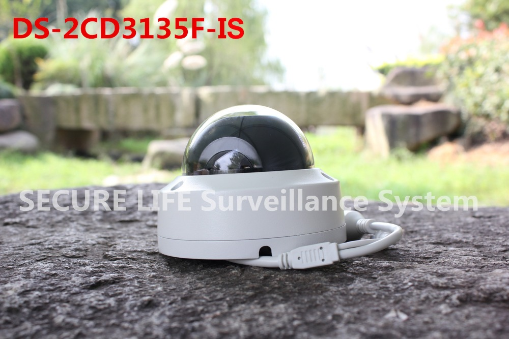 ФОТО In stock DS-2CD3135F-IS Multi-language version 3MP mini dome cctv camera audio and alarm, ip security camera POE SD128G H.265