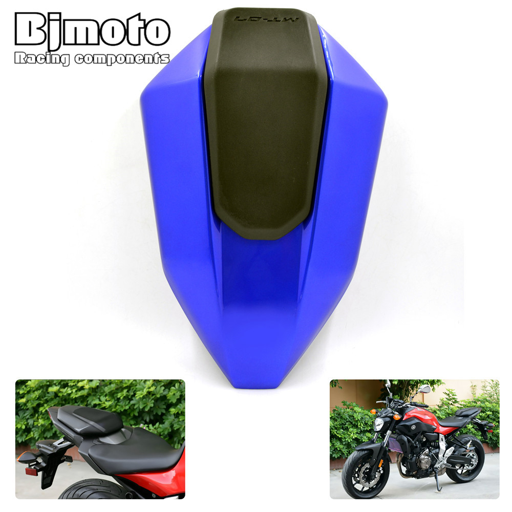 BJmoto motorbike motocross MT07 Rear Seat Cover Cowl for Yamaha MT-07 MT 07 MT07 2013 2014 2015 2016 2017 car rear trunk security shield cargo cover for dodge journey 5 seat 7 seat 2013 2014 2015 2016 2017 high qualit auto accessories