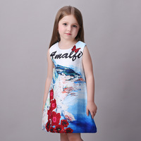 High Quality Milan Creations Girls Dress For Children Elegant Summer Girls Prom Princess Costume Child Age
