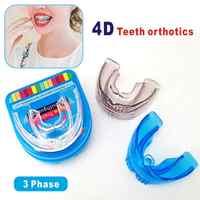 Invisible ortodoncia Dental protector bucal enderezar los dientes bandeja Dental ortopédicas retenedor lleno de dientes irregulares Corrector